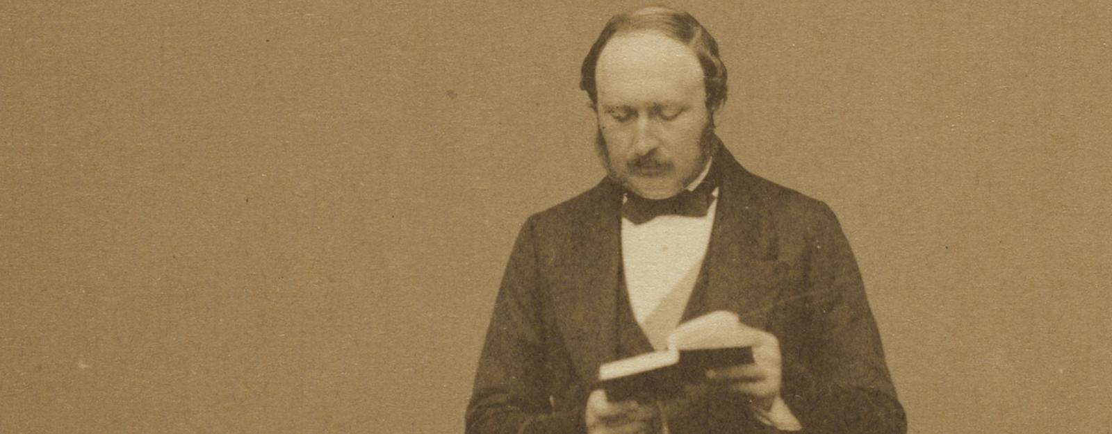 Photograph of Prince Albert reading