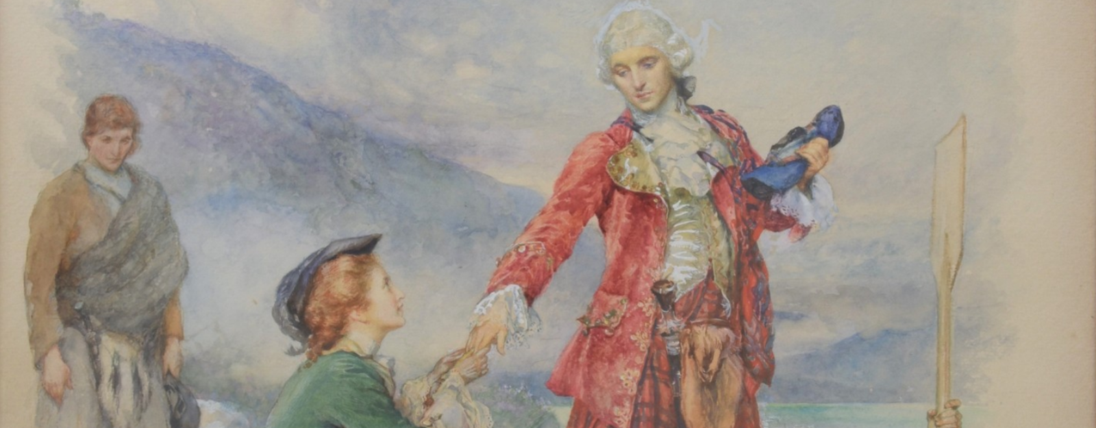Painting of Bonnie Prince Charlie and Flora MacDonald