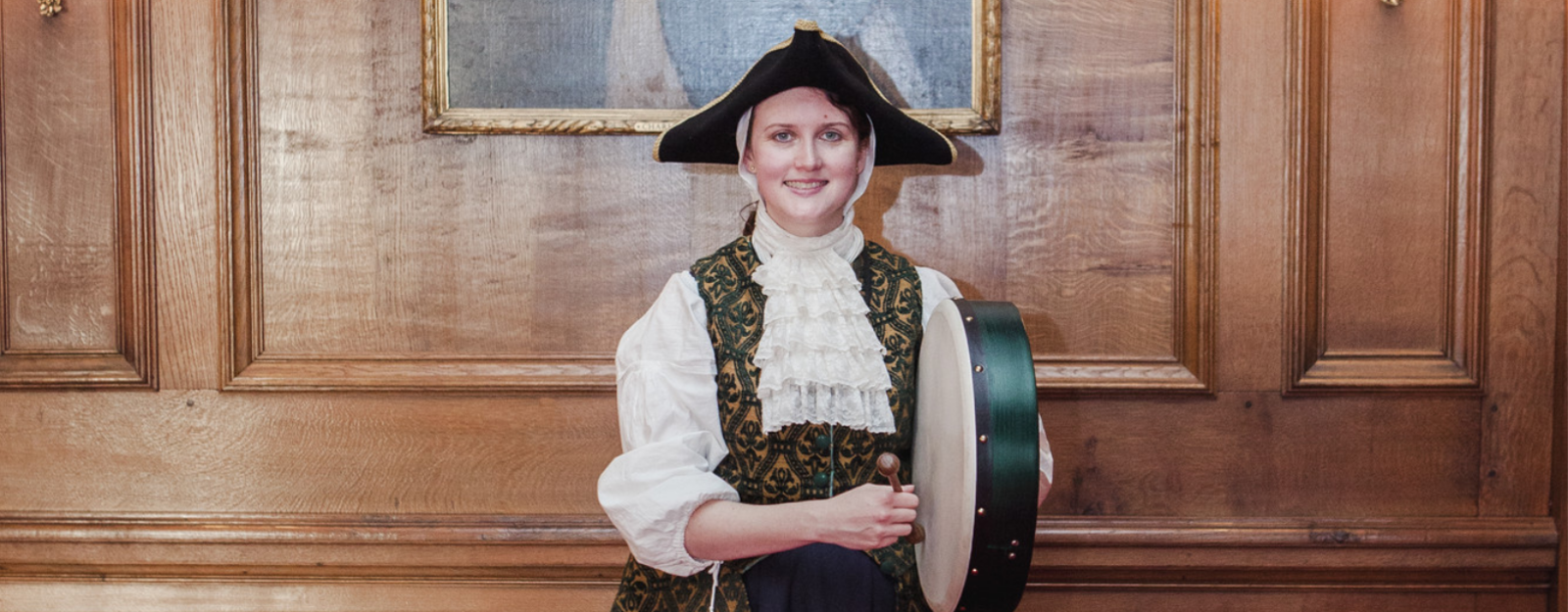 Musician in 18th Century costume