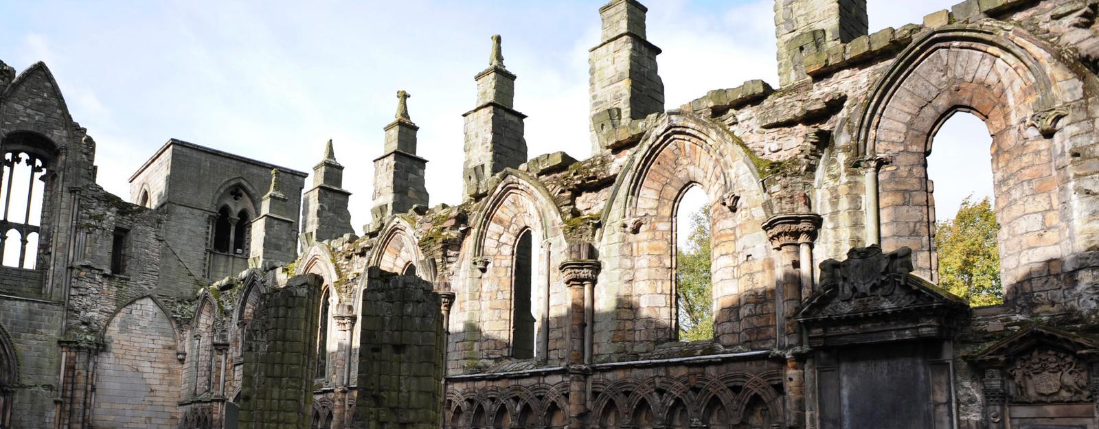 interior of Holyrood Abbey