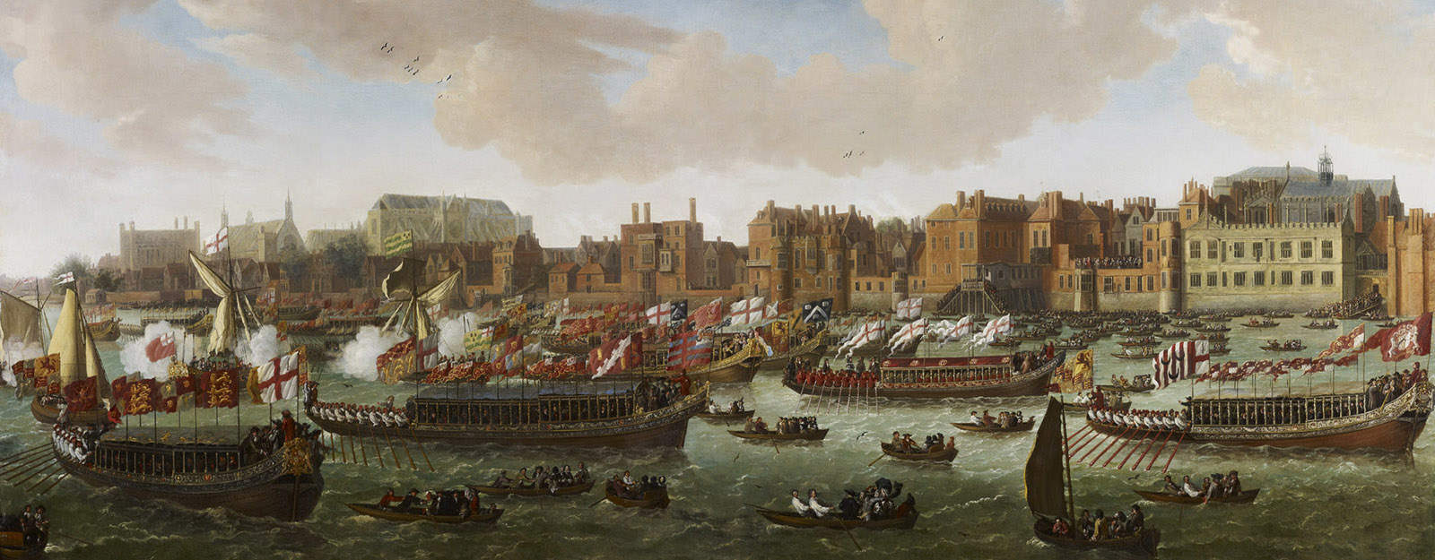The Lord Mayor's Water-Procession on the Thames