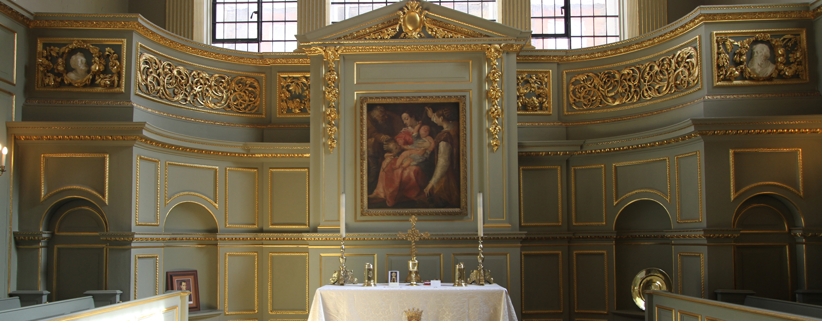 Interior of The Queen's Chapel, St James's Palace