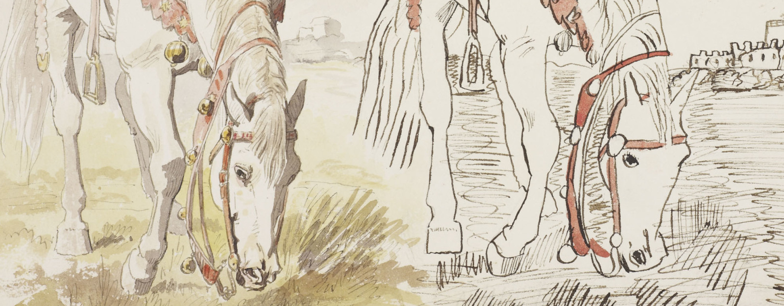 horse sketched by Edward VII