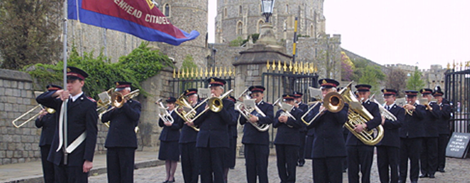 Maidenhead Citadel Band of The Salvation Army at Windsor Castle