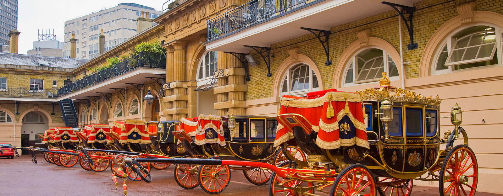 Coaches at the Royal Mews. Photographer: Pawel Libera