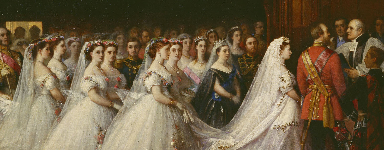 Detail from a portrait of the marriage of Princess Helena