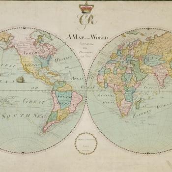 Georgian world map