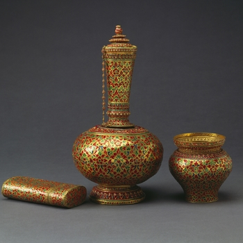 Gold and enamelled vessels from Siam