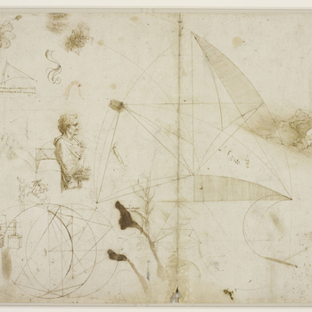 Drawings by Leonardo da Vinci of his inventions