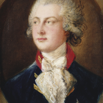 This portrait of George IV when Prince of Wales forms part of the series of fifteen portraits probably commissioned by Queen Charlotte of the royal family. They were painted at Windsor in September and October 1782. On 30 October the Morning Herald report