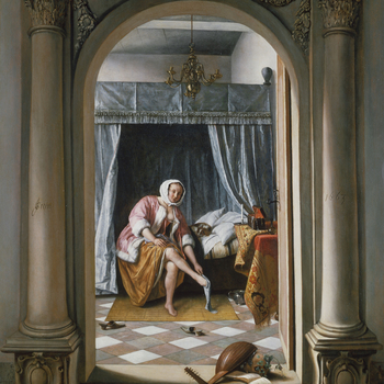 The painting is an outstanding example of Jan Steen's art in all respects. The elaborate treatment of subject-matter reveals a profusion of references that would have been readily recognisable to his contemporaries, attesting to the painter's
