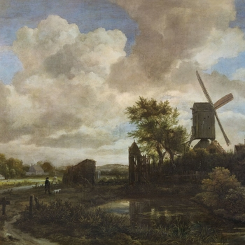 Jacob van Ruisdael (1628/9-82) is thought to have trained in Haarlem with his father, Isaack van Ruisdael, and his uncle Salomon van Ruysdael. Ruisdael had moved to Amsterdam by 1657 and stated before an Amsterdam notary in 1661 that he was 32, thereby in