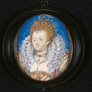 The ageing Elizabeth is idealised as 'Astraea', the goddess described in Virgil's Fourth Eclogue as presiding over the classical golden age. Artists and poets, such as Edmund Spenser, linked Astraea's qualities of eternal youth and justice with Elizabeth