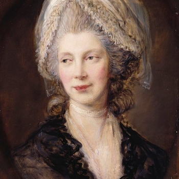 This portrait of Queen Charlotte forms part of the series of fifteen portraits probably commissioned by Queen Charlotte of the royal family. They were painted at Windsor in September and October 1782. On 30 October the Morning Herald reported that Gainsbo