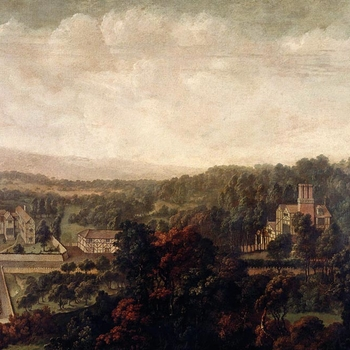 Streeter was appointed Serjeant-painter to Charles II in 1663 and seems to have worked as a journeyman-artist executing copies, decorative panels for palace interiors, barges and coaches, stage scenery and some landscapes.   White Ladies Priory is now a