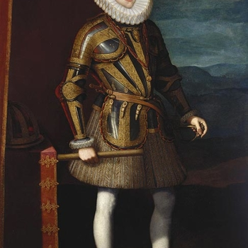 <p>Juan Pantoja de La Cruz was the foremost Spanish portrait painter of the late sixteenth and early seventeenth century and was court painter to both Phillip II and Phillip III of Spain. This bold painting follows in the tradition of Spanish royal portra