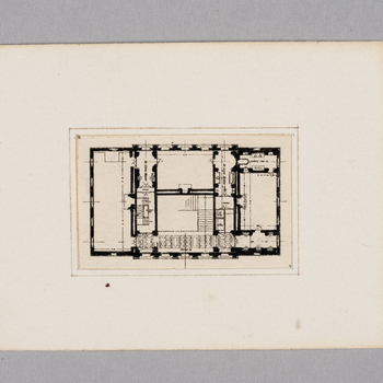 First floor plan of the Doll's House reproduced after Lutyens, with touches of ink.