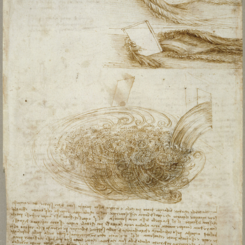 Water obsessed Leonardo throughout his life. His earliest dated drawing, of 1473, is a landscape showing a river cascading over rocks and streaming away down a valley; his final sheets, forty-five years later, are haunted by visions of deluges destroying