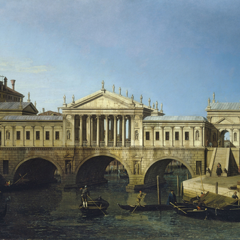 Palladio published his design for the Rialto Bridge in 1570with the words:
