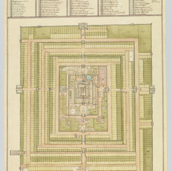 Plan of the famous Pagoda of Seringham [sic], near Fritchinopoly, drawn by a genloo as well as the elevation [930166] which most faithfully represents the Gateway No. 81 in the Plan