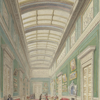 Architectural sketch of the East Gallery Buckingham Palace