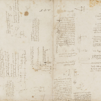 Recto: Studies of human proportion. Verso: A plan and elevation of a domed church