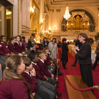 Pupils visit the Ballroom, Buckingham Palace