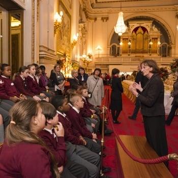 Pupils visit the Ballroom, Buckingham Palace