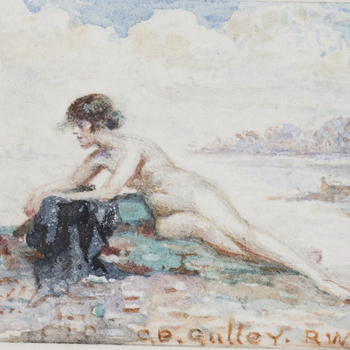 Woman reclining on a beach