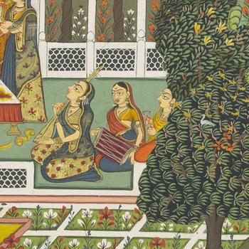 musicians in a garden