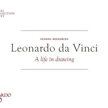 Leonardo da Vinci school resource booklet front cover