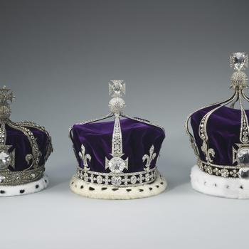 Queen Alexandra, Queen Elizabeth and Queen Mary's crowns