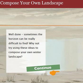 Compose your own landscape: Children's activity banner
