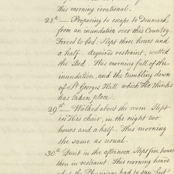 Account of George III's symptoms