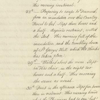 Account of George III's symptoms