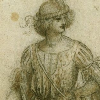 Leonardo da Vinci, A standing masquerader, c.1517-18