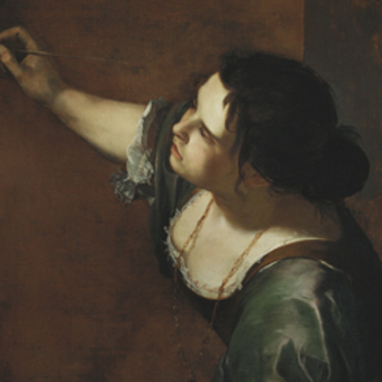 Detail of Gentileschi's self portrait