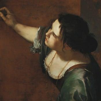 Detail of Gentileschi's self portrait