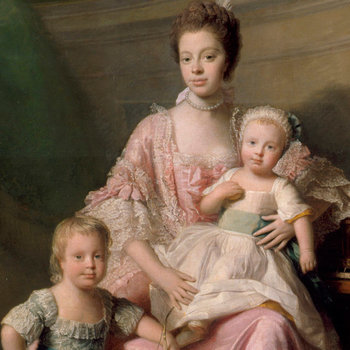 Queen Charlotte with her two Eldest Sons, Allan Ramsey
