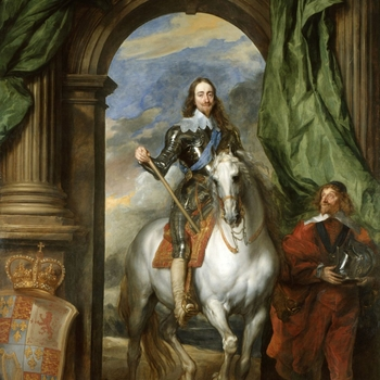 Painting of Charles I on horse back