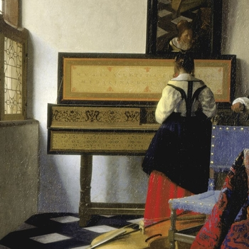 Johannes Vermeer, A Lady at the Virginal with a Gentleman, 'The Music Lesson', 1662-65, RCIN 405346