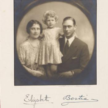 King George and Queen Elizabeth with Princess Elizabeth