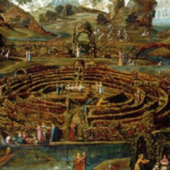 Pleasure Garden with a Maze detail