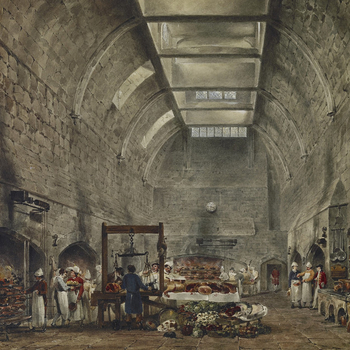 Painting of the kitchen at Windsor Castle
