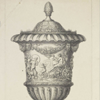 Drawing of a Baroque vase