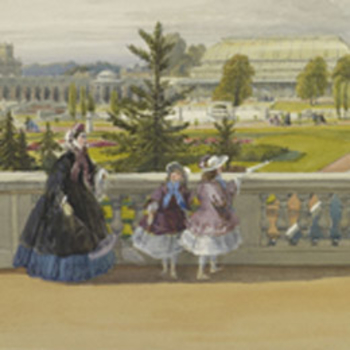 People walking in the gardens at South Kensington