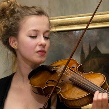 Image of student playing a violin