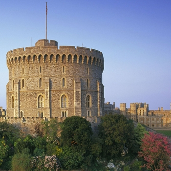 A photograph of the Round Tower at Windsor Castle