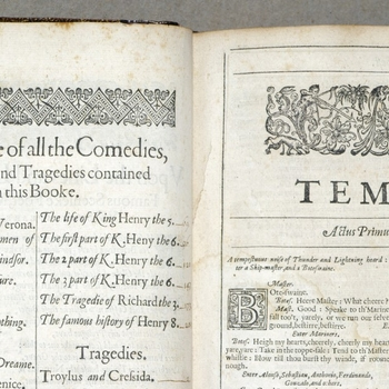 Pages from The Tempest