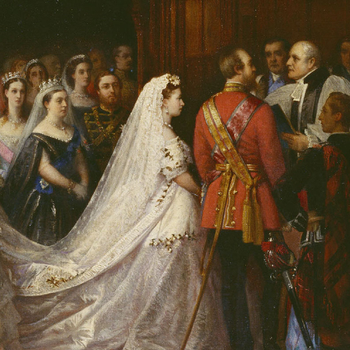 Detail showing the Marriage of Princess Helena, 5 July 1866